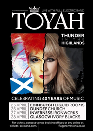 "TOYAH ""Thunder In The Highlands 40th Anniversary Scottish Tour"""