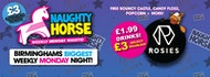 NAUGHTY HORSE at ROSIES! Birmingham's Biggest Weekly Monday Night!