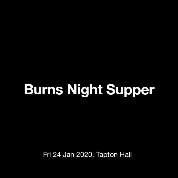 Burns Night Supper Tickets @ Tapton Hall, Sheffield - 24 January 19:00 |  TickX