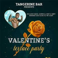 Valentines Terrace Party with MARCEL SOMERVILE from Love Island