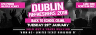 The Dublin Refreshers Back to School Bar Crawl 2019