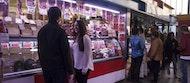 Visita de mercado de la mañana de Málaga y clase de cocina de paella