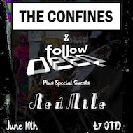 Follow Deep & The Confines plus Supports