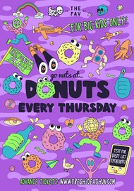 Go Nuts at Donuts Relaunch - Venue TBA