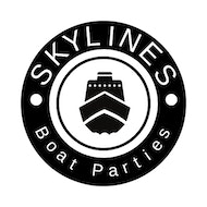 Skylines summer day boat party with barbecue and secret after party