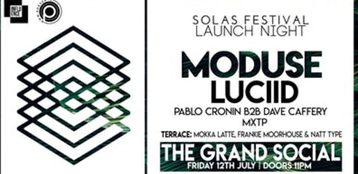 Solas Festival Dublin Launch Party Tickets @ The Grand Social