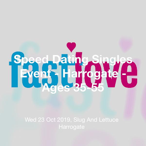 speed dating harrogate